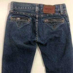 Levi's Type 1 Western Boot Blue Jeans Women's 27M